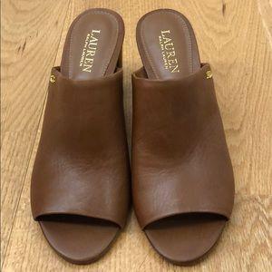 Ralph Lauren brown Mule Sandals